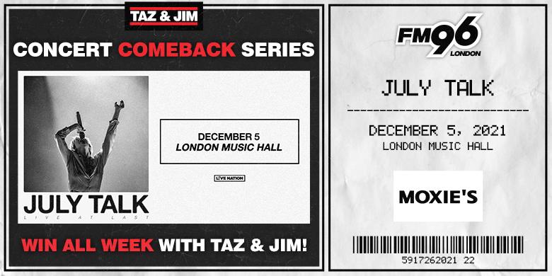 Taz & Jim Concert Comeback Series – JULY TALK